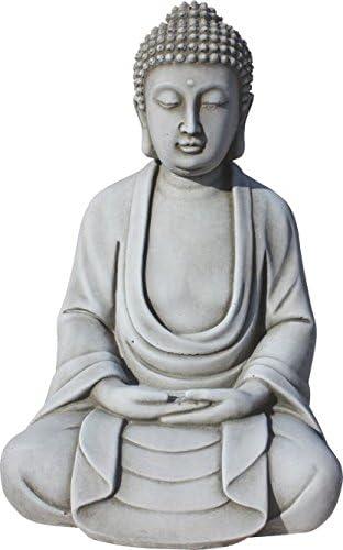Buda de piedra , para jardín. Modelo revata. 33cm altura. 6KG ...