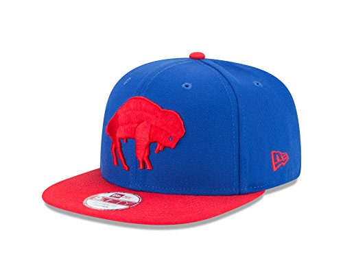 New Era NFL Historic Baycik Snap 9FIFTY Original Fit Cap, Blue/Red, One Size (Buffalo Bills Hats Red)