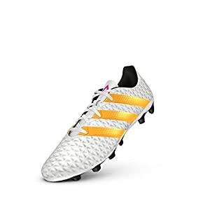 adidas Performance Women's Ace 16.4 FxG W Soccer Shoe,White/Gold/Black,8.5 M US