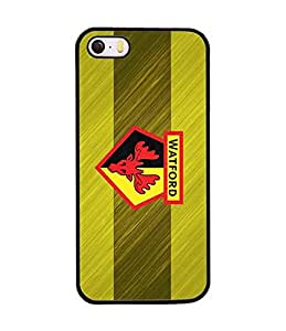 Watford Football Club Iphone 5 Funda Case, Snap On Slim Ultra Thin High Impact Protector Solid Fit for Iphone 5 / 5s