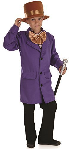 Boys Willy Wonka Charlie and The Chocolate Factory Book Day Rich Victorian Fancy Dress Costume Outfit 4-12 yrs (6-8 Years)