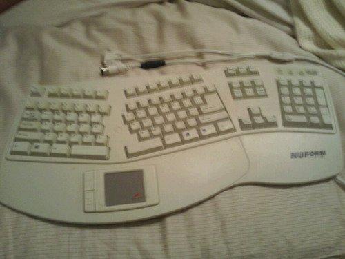 Adesso NU-Form Flat Ergo ADB MAC Keyboard with Touchpad, 2 ADB Ports  ( AEK-503T )