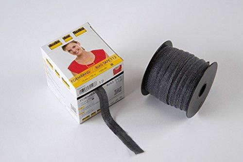 Vilene 12mm Iron On Bias Stay Tape Charcoal - per metre