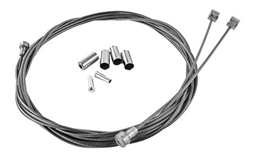 Velo Orange Metallic Braid Brake Cable Kit   Silver   Ca 0002