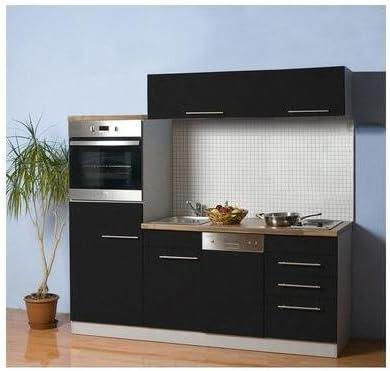 Mebasa Cucina 200 Cm Colore Antracite Amazon It Casa E Cucina
