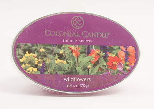 Colonial Candle CCSNAPS.5065 Simmer Snaps Wildflowers Scented Candle