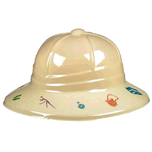 Amscan Prehistoric Party Pith Helmet Accessory Childrens-Costume-Headwear-and-Hats , 12 (Explorer Dress Up Clothes)