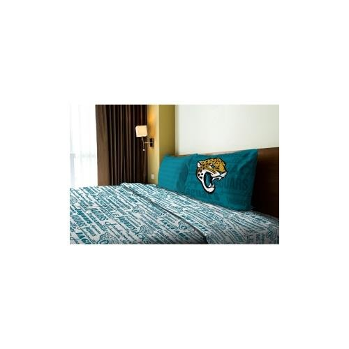 NFL Jacksonville Jaguars Sheet Set Anthem Sheets Twin Bed