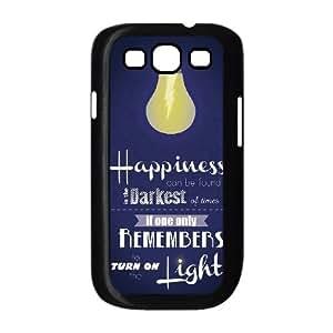 Harry Potter Quotes funda Samsung Galaxy S3 9300 caja funda del teléfono celular del teléfono celular negro cubierta de la caja funda EEECBCAAL03941