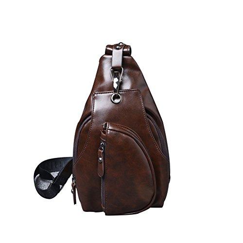 marrón hombre Bolso marrón para única WFZ17 hombro al oscuro talla oscuro xIdw7fqf