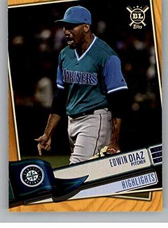 pretty nice f9645 70ff6 Amazon.com: 2019 Big League Gold Baseball #394 Edwin Diaz ...