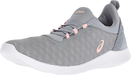 ASICS Women's Women's 1032A004 Gel-Fit Sana 4 Running Shoe, Stone Grey/Frosted Rose - 10