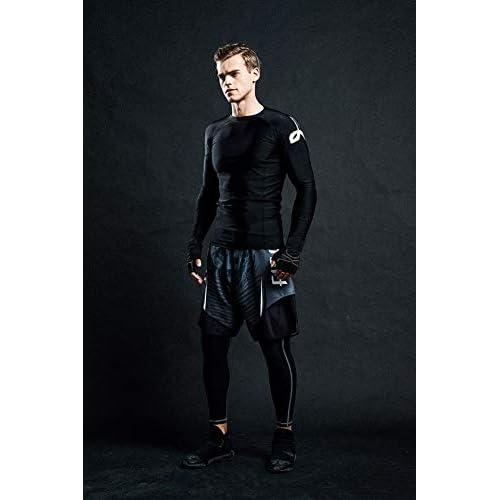 Baselayer Performance Compression Shirt Rash Guard-CLY08 LAFROI Mens Long Sleeve UPF 50