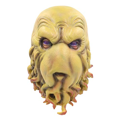 (Horror The Call of Cthulhu Mask Monster Mask Octopus Head Toy Halloween Costume (Cthulhu)
