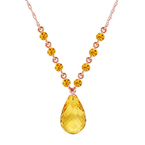 Multi Gemstone Heart Necklace - 11.5 CTW 14k 18