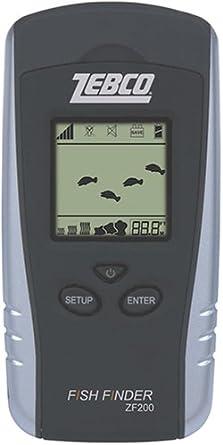 Zebco ZF200 CP4 2.3-Inch Fishfinder Black Silver
