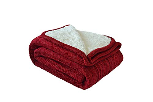 MeMoreCool Cosy Cable Knitting Throw All Season Sofa/Bedding/Couch Soft Throw Blanket Kids Indoor/Outdoor Blanket Warm Quilt Throw by MeMoreCool
