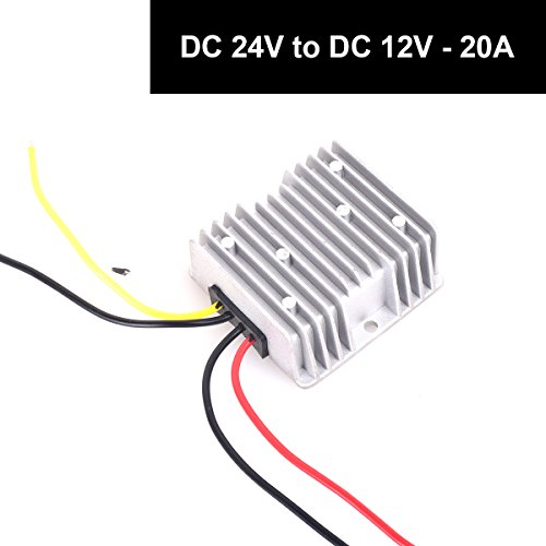 DC 24v to DC 12v Step Down 20A 240W Heavy Duty Truck Car Power Supply Adapter Converter Reducer Regulator for Auto Car Truck Vehicle Boat Solar System etc.(DC15-40V Inputs) by E-KYLIN