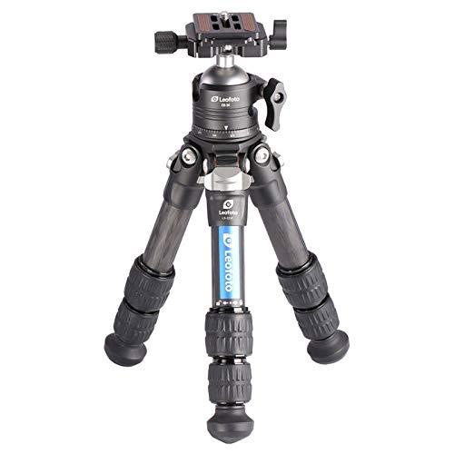 Leofoto LS-223C Portable Light Weight Carbon Fiber Tripod+ EB-36 Single Notch Ball Head Set,Ranger Series,NP-50S Quick Release Plate Included, Center Column Not Included