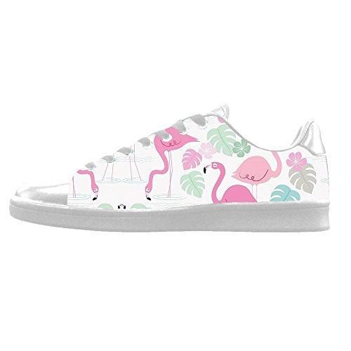 Le Modèle Fait Sur Commande Des Chaussures De Toile Des Hommes De Flamingo Haut Lacets De Chaussure Au-dessus Des Espadrilles De Toile De Chaussures.