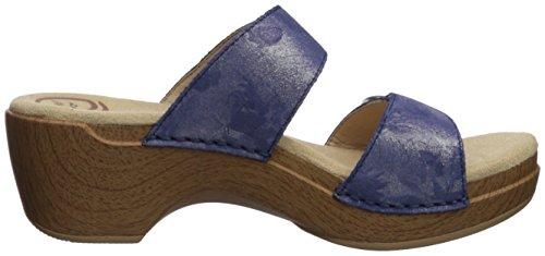 Dansko Mujeres Sophie Sandal Blue Shimmer Metallic