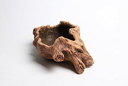 Nwfashion Wooden Stump Flower Succulent Potplantercontainer