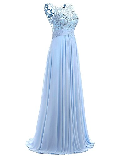 mangas Vestido Carnivalprom Sin trapecio Azul para mujer PqASp8U1Sw