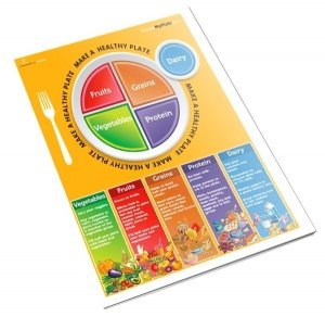 picture regarding Myplate Printable called MyPlate Handout Tearpad