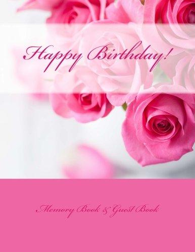 Happy Birthday Memory Book Guest Book