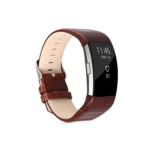or Fitbit Charge 2 - Faux Leather Sport Bracelet - Replacement Leatherette Watch Strap ()