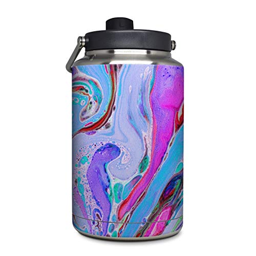 Marbled Lustre Protector Skin Sticker Compatible with Yeti Rambler 1 Gallon Jug - Ultra Thin Protective Vinyl Decal Wrap - Lustre Jug