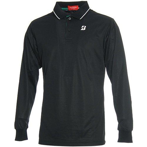 ブリヂストン TOUR B 長袖シャツ?ポロシャツ 長袖ポロシャツ IGM09F ブラック L