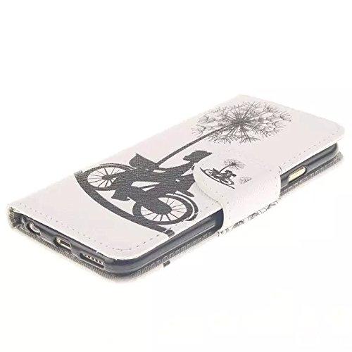"""PU Leder Wallet Case Folio Schutzhülle für Apple iPhone 6s Plus / iPhone 6 Plus 5.5"""" Tasche Hülle Handytasche Etui Schale Backcover Flip Cover im Bookstyle mit Standfunktion Kredit Kartenfächer (T07#)"""