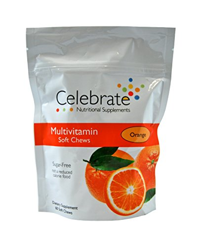 Celebrate Multivitamin Soft Chews Orange 60 Count