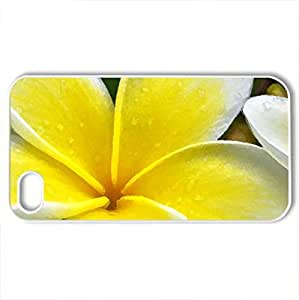 Blossoming soul - Case Cover for iPhone 4 and 4s (Flowers Series, Watercolor style, White)
