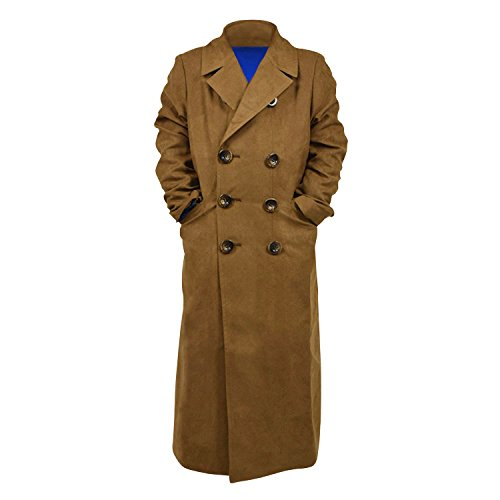 a39aee91bc9b Galleon - Star Flower Children Boys Brown Long Trench Coat (Brown