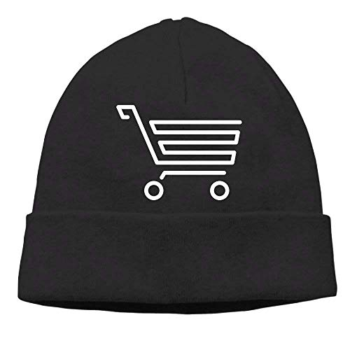 FFR EGM HAQSK CUFD Headscarf Shopping Cart Personalized Sport Portable Black Beanies Hat,Fashionable Portable