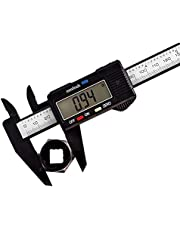 Digital Caliper, Vernier Caliper Measuring Tool 6 Inch, Calipers with 2.2'' Large LCD Screen, Conversions Between inch/mm, for Length Depth Inner and Outer Diameter Measuring