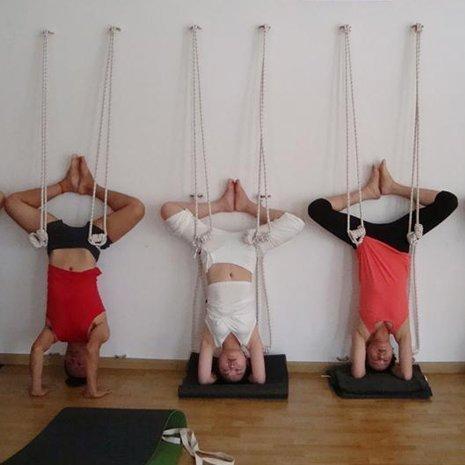 Pellor Sport Fitness Yoga Wall Ropes Equipment Tool Gym (White)