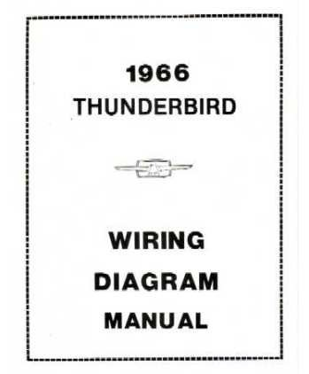 amazon com 1966 ford thunderbird wiring diagrams schematics Wiring Diagram for 1994 Ford Thunderbird