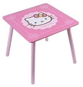 Fun House 711467 Hello Kitty - Mesa cuadrada infantil, color rosa