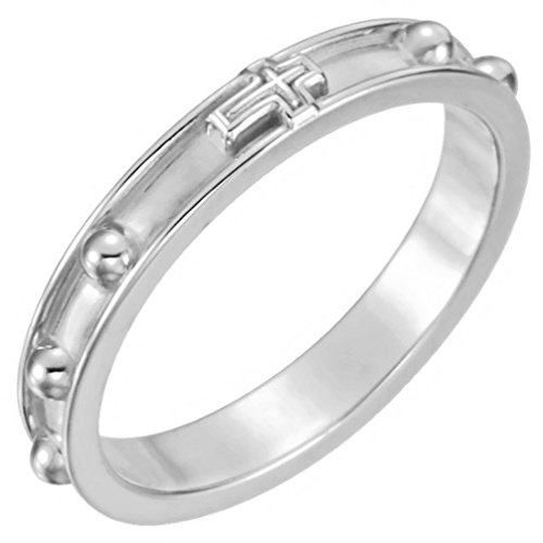 Sterling Silver Rosary Ring, Size 12 by The Men's Jewelry Store