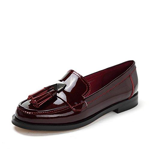 Primavera zapatos de plataforma plana/Un pedal zapatos B