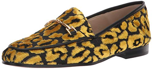 - Sam Edelman Women's Loraine Loafer, Tuscan Yellow/Multi Leopard Velvet, 8.5 M US