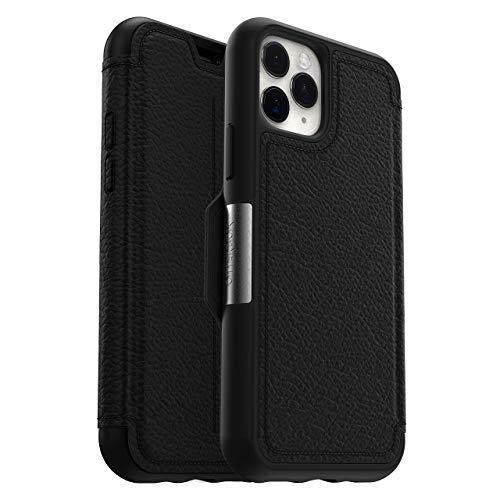 OtterBox Strada - Funda con tapa en cuero auténtico Anti caídas, fina y elegante para Apple iPhone 11 Pro, Negro