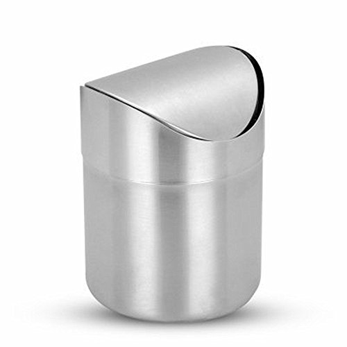 K Steel Stainless Countertop Kitchen Wastebasket product image