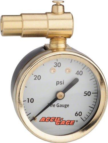 Meiser Presta-Valve Dial Gauge with Pressure Relief: 60psi (Valve Presta Gauge)