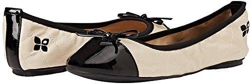 Mujeres Butterfly Zapatos Negro Ballerinas Plano Olivia Twists Crema IqqxFZ1
