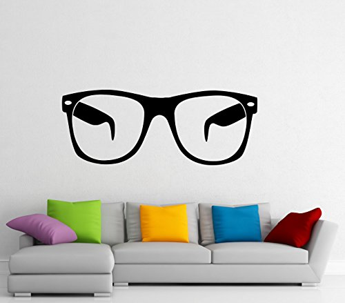 Glasses Wall Decal Wall Vinyl Sticker Eyeglasses Fashion Design Interior Home Art Wall Murals Bedroom Home Decor (3g01es) (Home For Online Decor Sites)