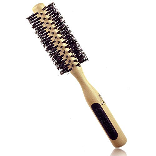 Kent NS04 / PF04 Natural Shine, Pure Boar Bristle, Radial Hairbrush (Best Kent Boar Bristle Hair Brushes)